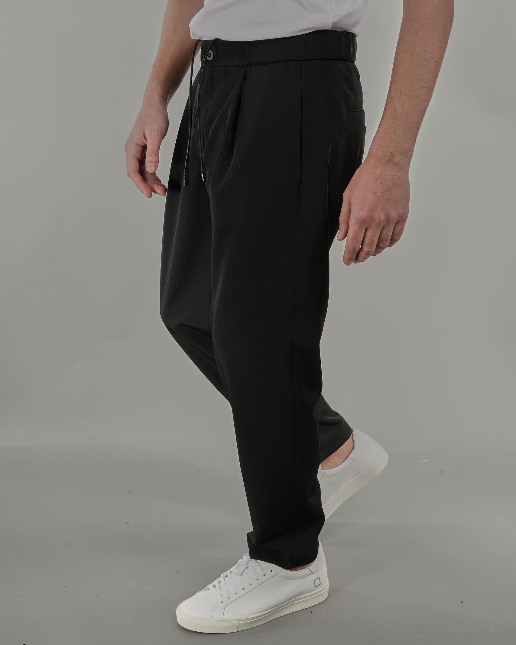 Pantalone con elastico in vita e coulisse Michael Coal MICHAEL COAL   Pantalone   LEN35200S21NERO
