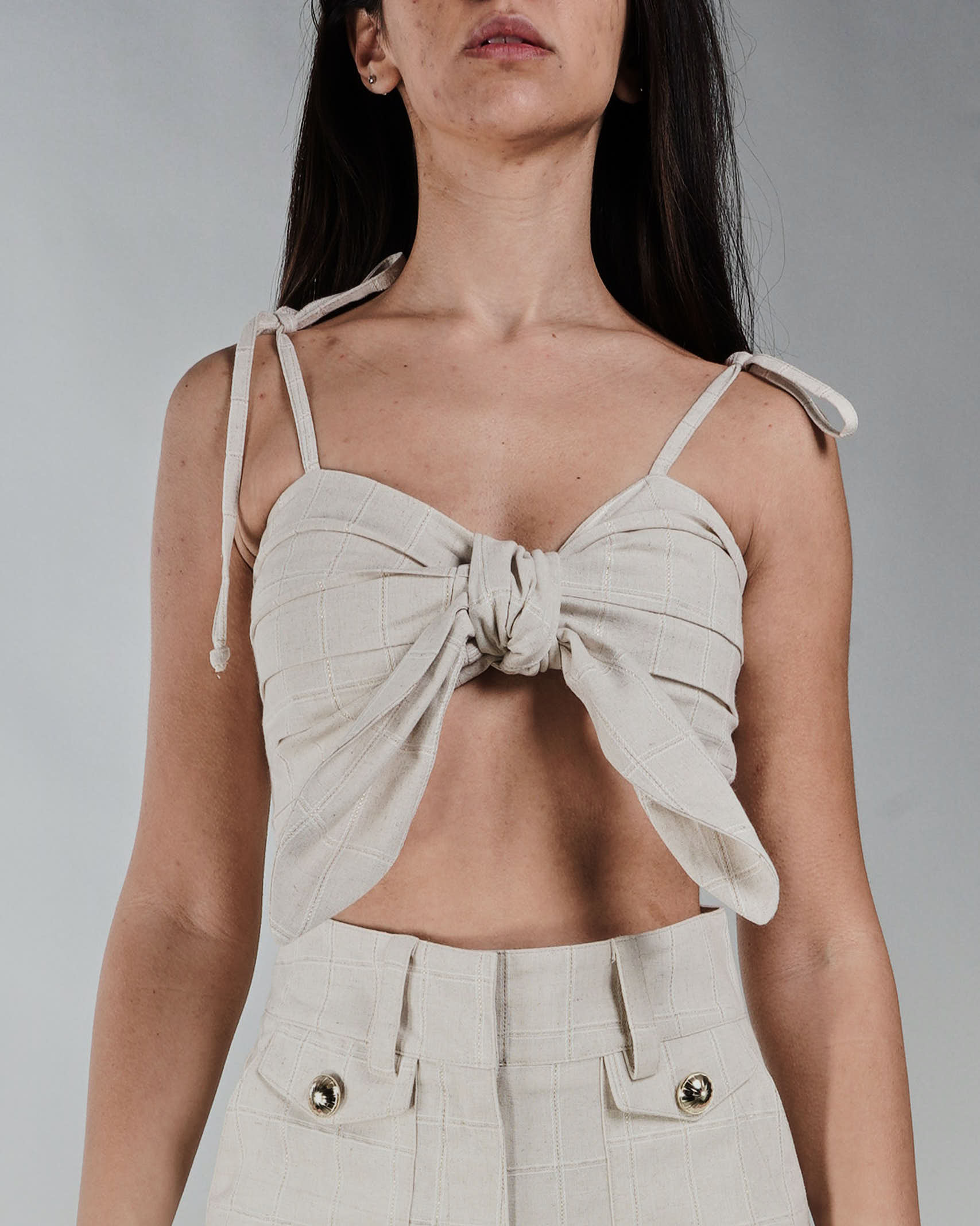 Top cropped Never Be The Same NEVER BE THE SAME   Top   21010BEIGE