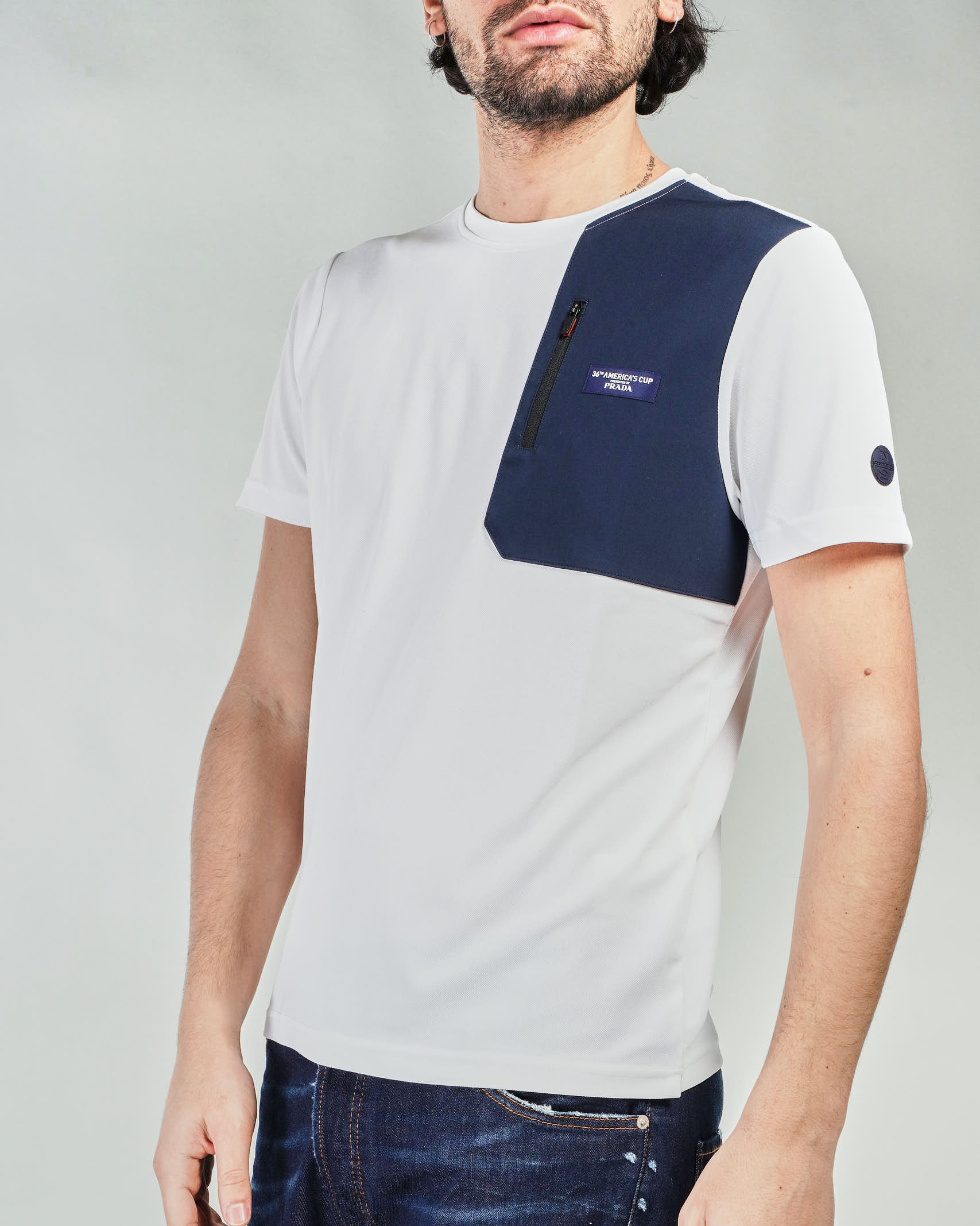 T-shirt con logo a contrasto North Sails X Prada NORTH SAILS X PRADA | T-shirt | 452309101