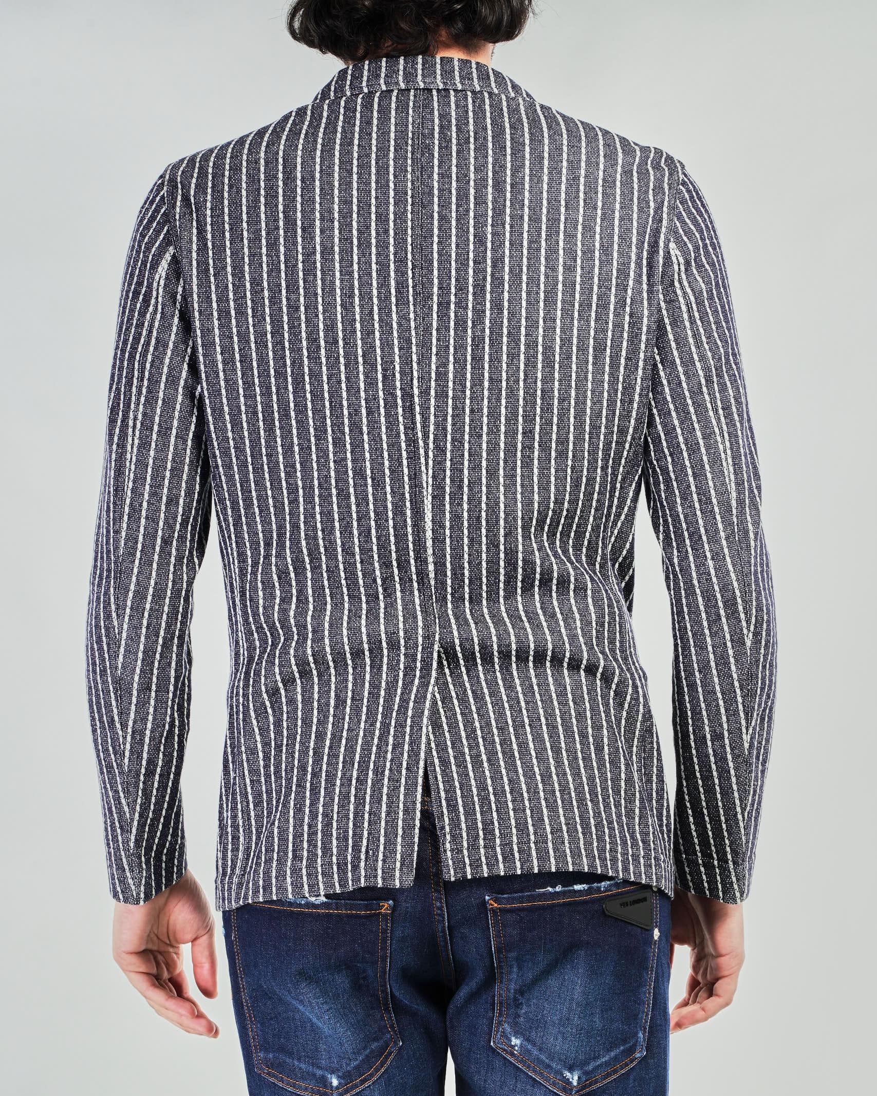Giacca in maglia a righe doppiopetto Paoloni PAOLONI | Giacca | 2811G96720108189