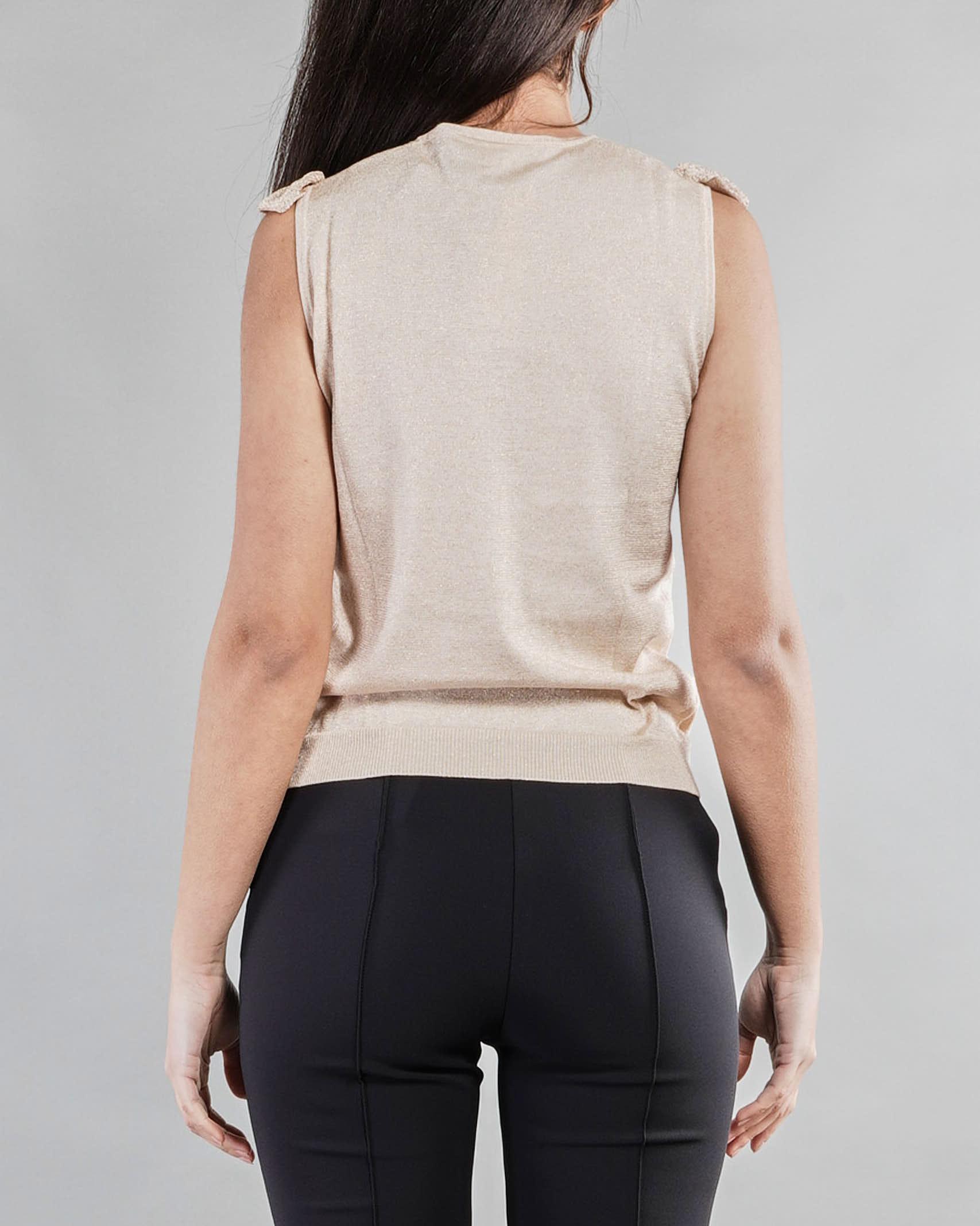 Top in maglia lamè con rouches Penny Black PENNY BLACK   Maglia   SERENO1
