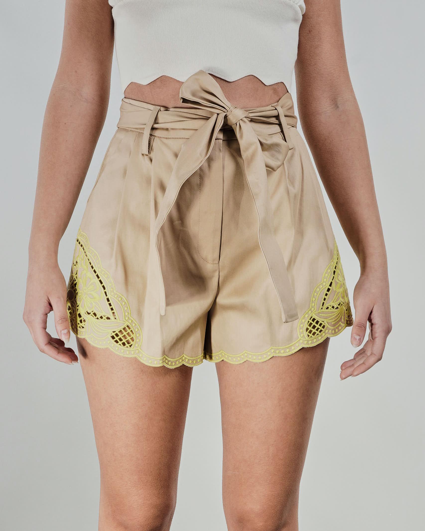 Shorts con ricamo sangallo Twinse TWIN SET | Shorts | TT20806133