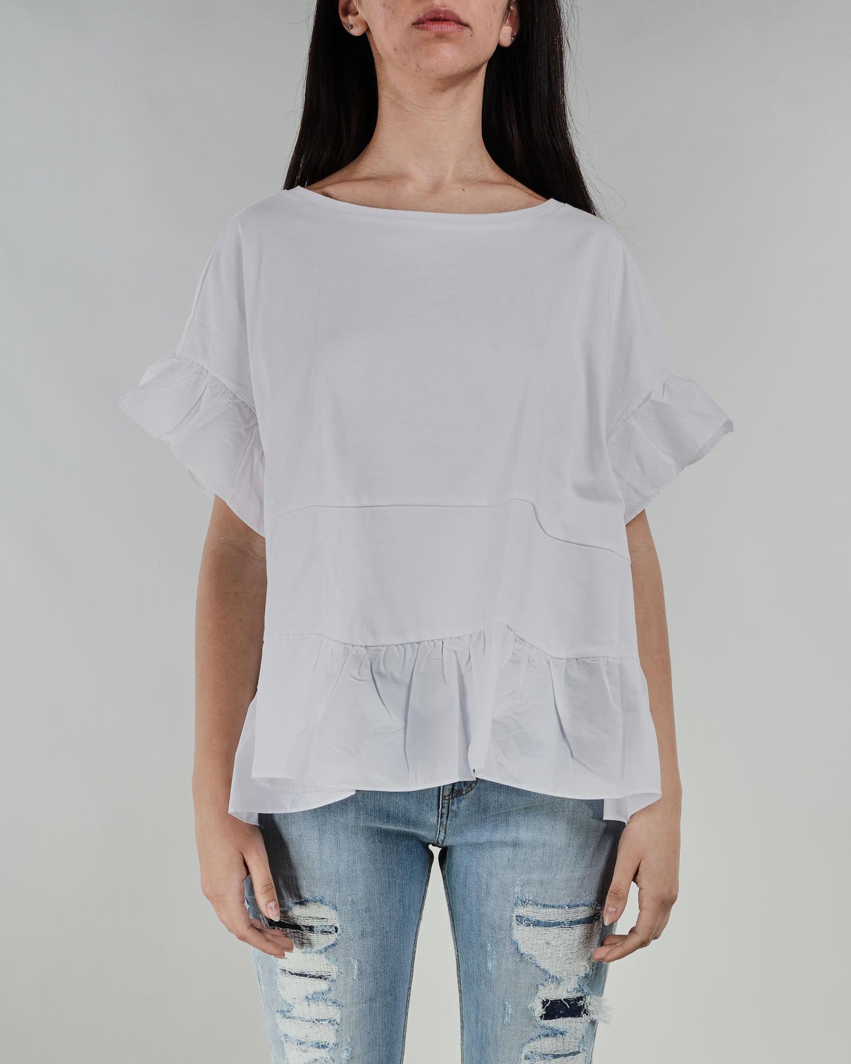 T-shirt con volant in popeline Twinset TWIN SET   T-shirt   TT24001