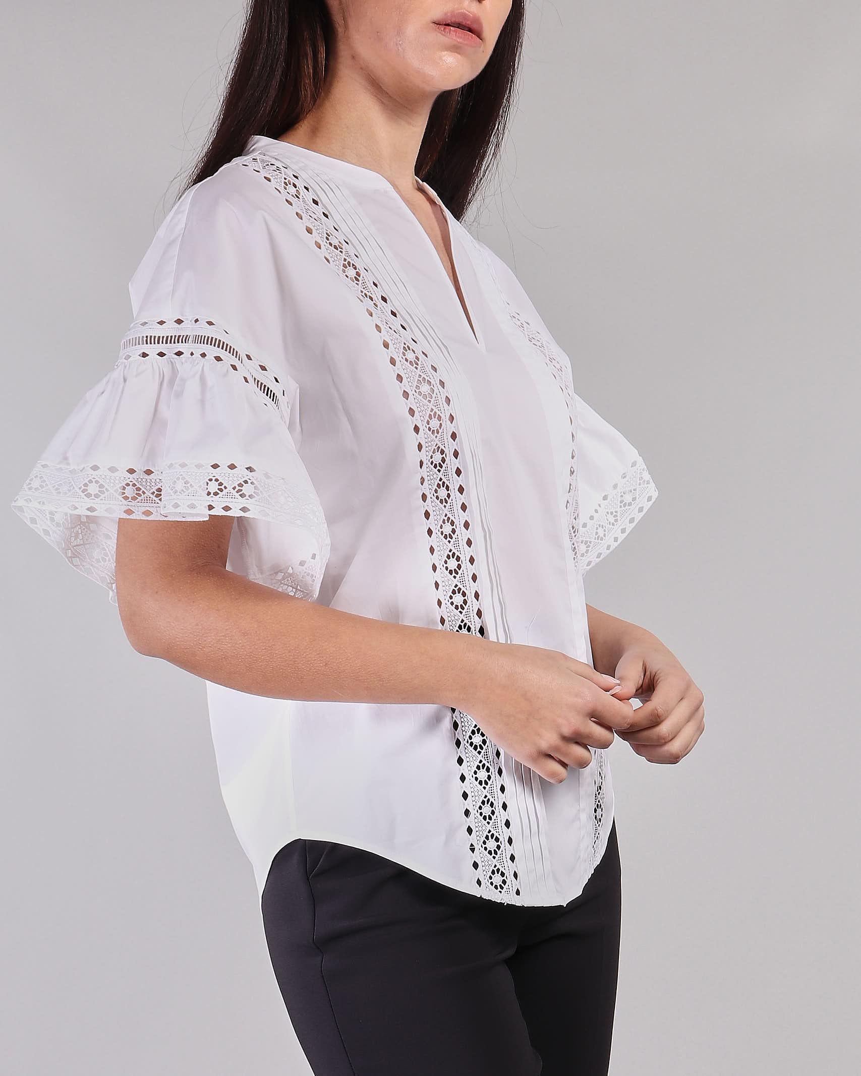 Camicia in cotone con riporti in pizzo Twinset TWIN SET | Blusa | TT24641