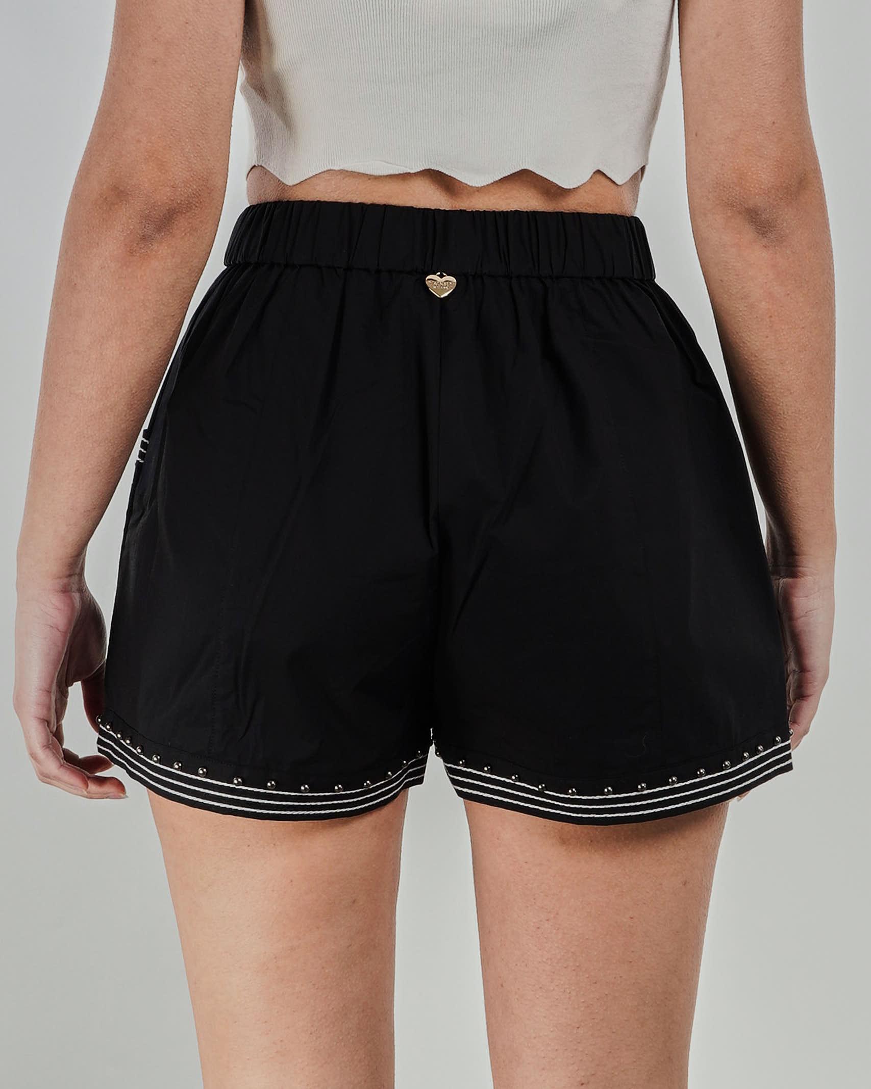 Shorts in popeline con borchie Twinset TWIN SET | Shorts | TT24846
