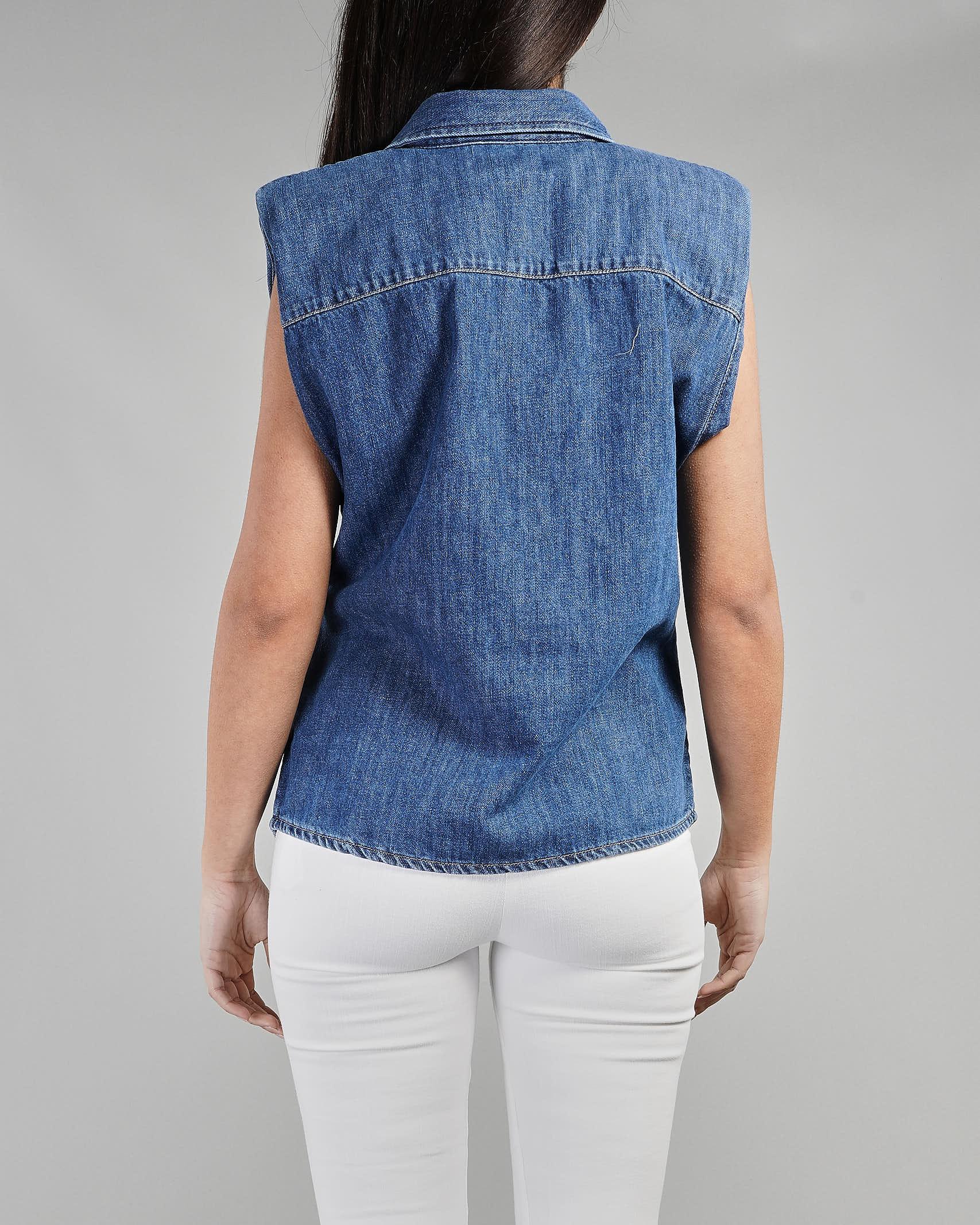 Camicia smanicata in denim Vicolo VICOLO   Camicia   DH0125DENIM