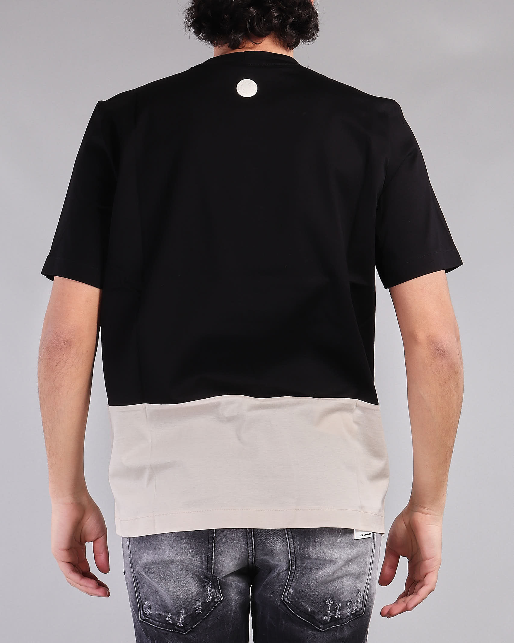 T-shirt bicolor Yes London YES LONDON   T-shirt   XM3855NERO-BEIGE