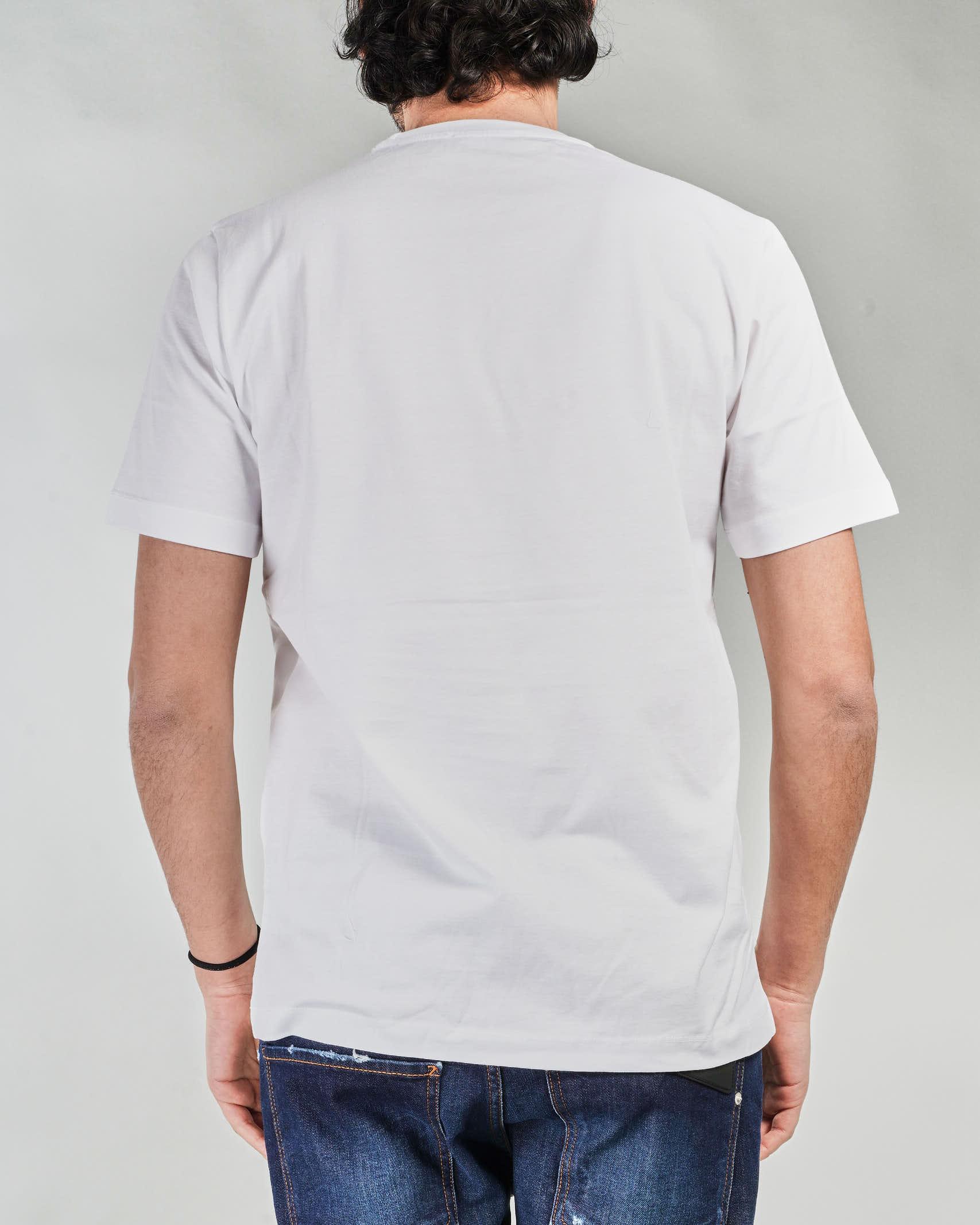 T-shirt con taschino e patch logo Yes London YES LONDON   T-shirt   XM3886BIANCO