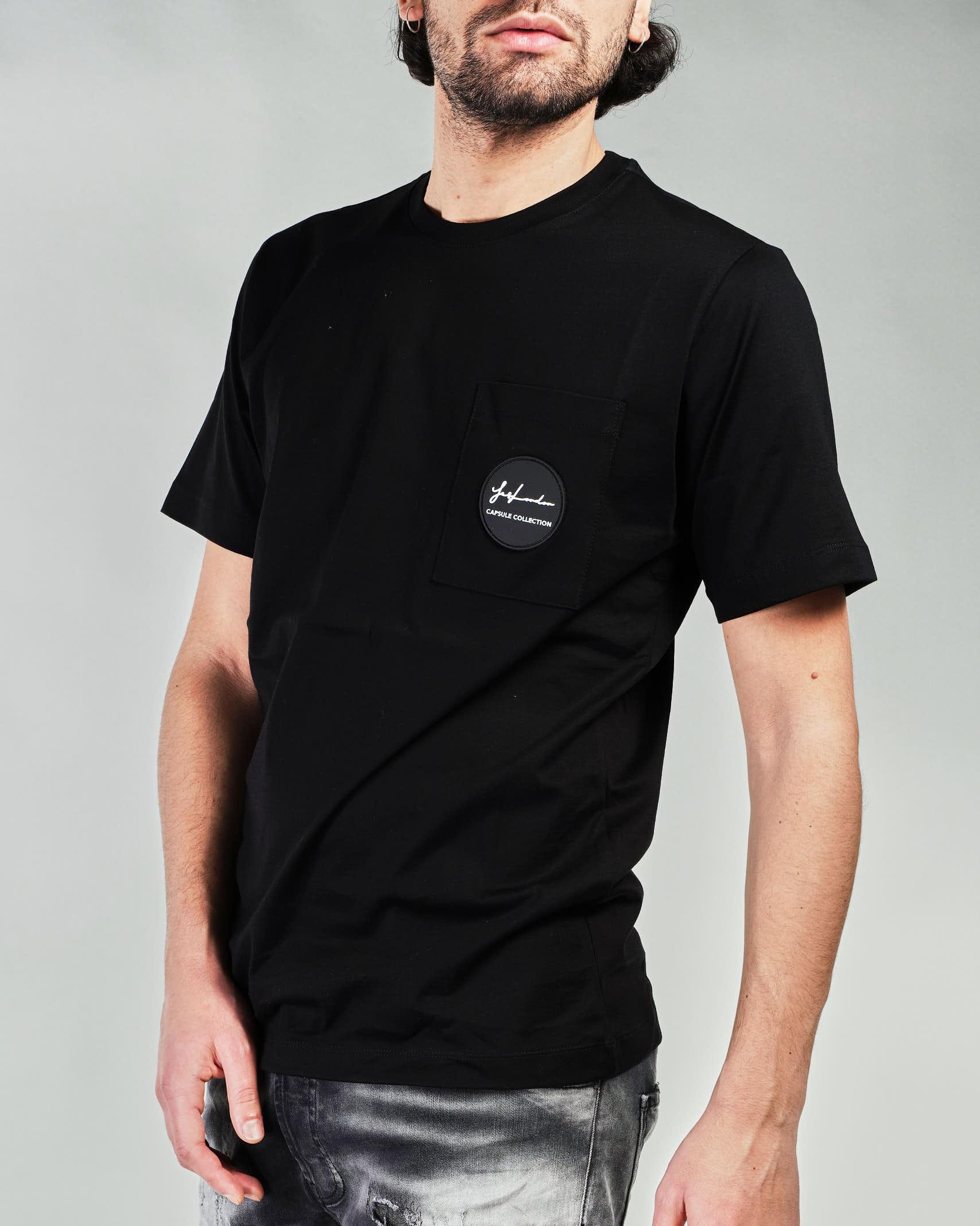 T-shirt con taschino e patch logo Yes London YES LONDON | T-shirt | XM3886NERO