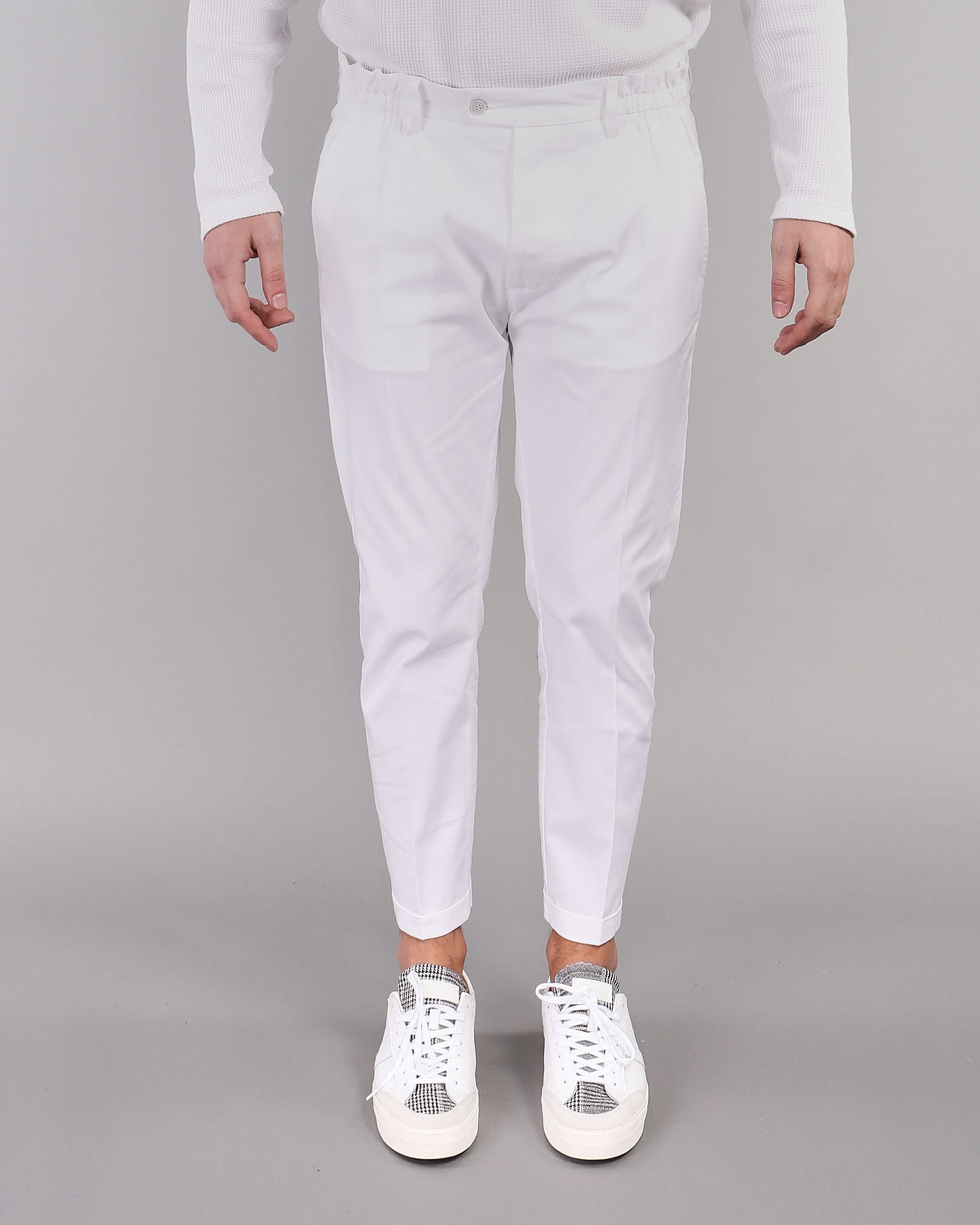 Pantalone con risvolto Yes London YES LONDON | Pantalone | XP2850BIANCO