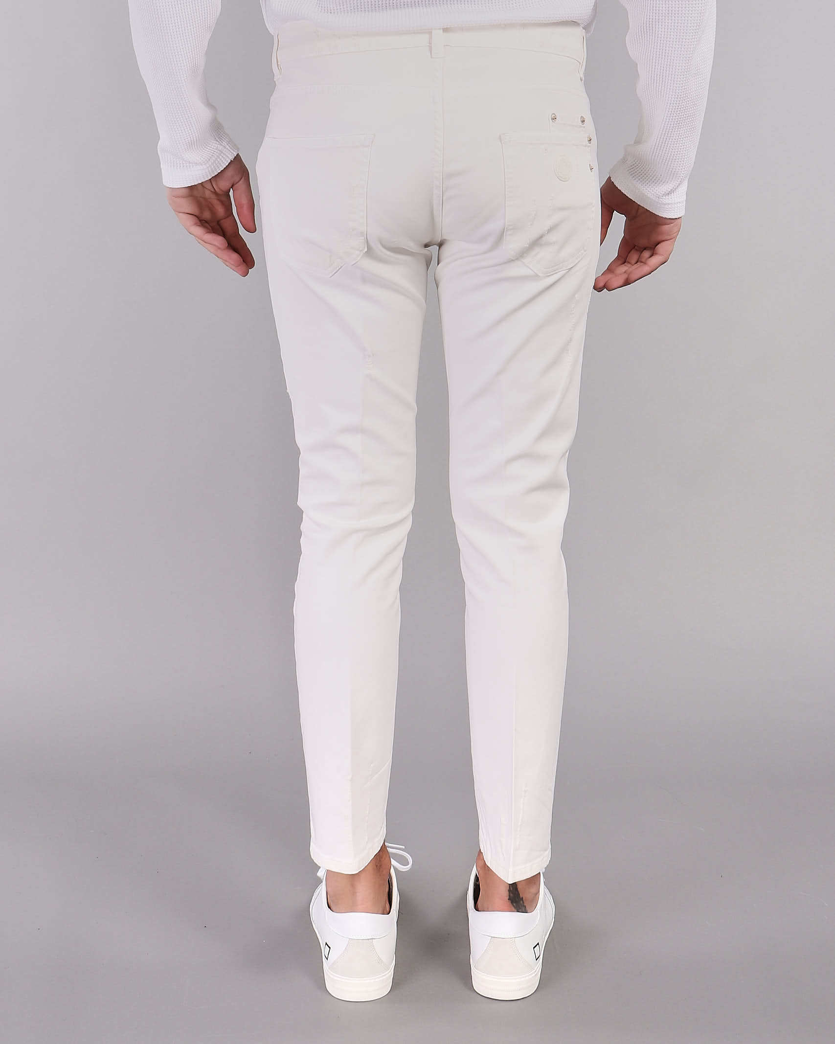 Jeans in bull di cotone Yes London YES LONDON   Jeans   XP3091PANNA