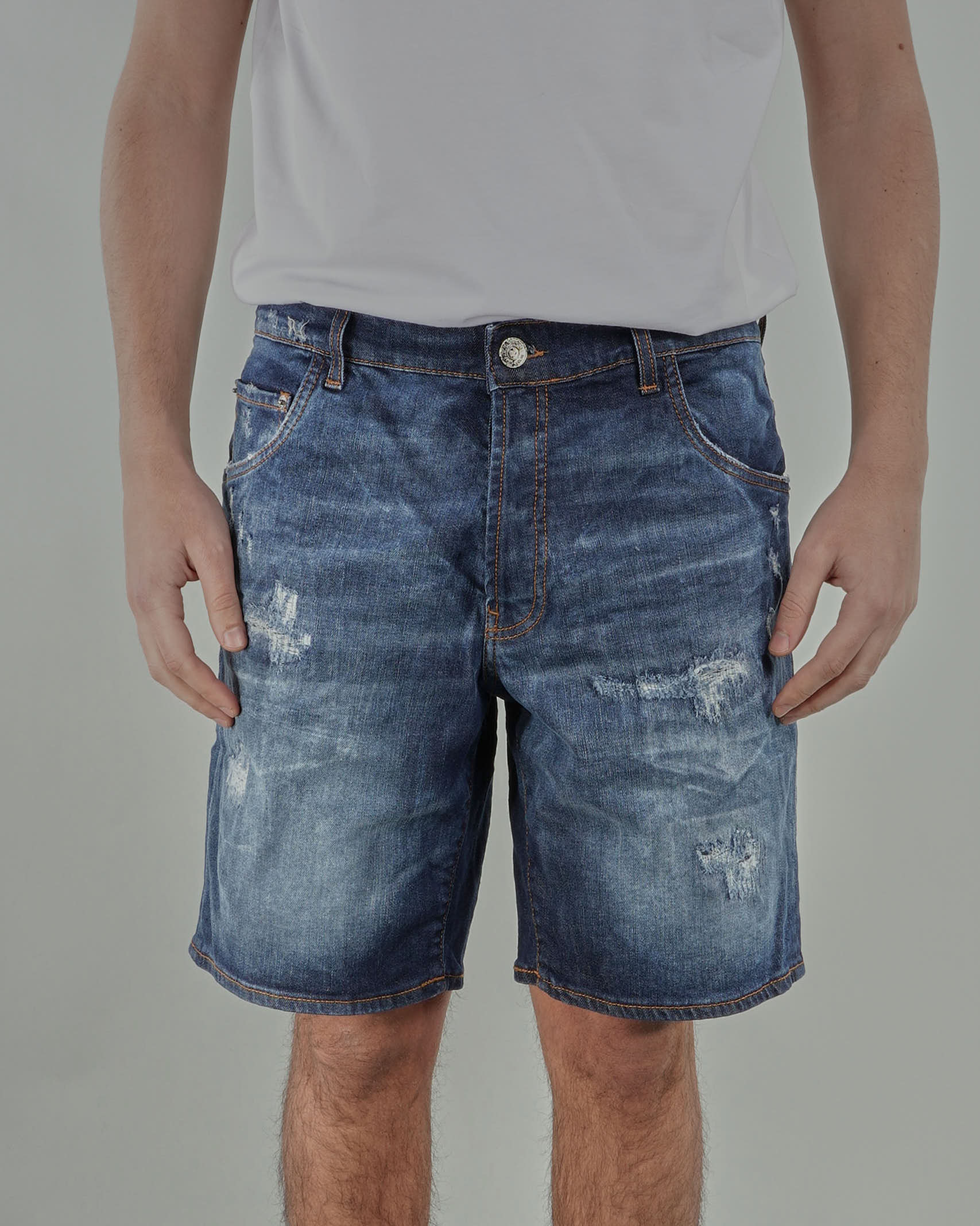 Bermuda con rotture Yes London YES LONDON | Jeans | XS4079DENIM