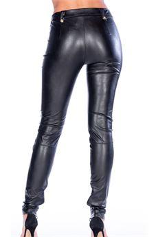 Pantalone in ecopelle con lacci Babylon BABYLON | Pantalone | MF6007NERO