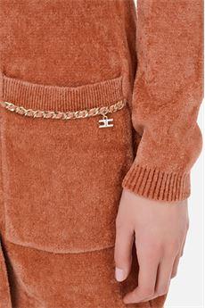 Robe Manteau in maglia con catena dorata Elisabetta Franchi ELISABETTA FRANCHI | Abito | AM82S07E2W71