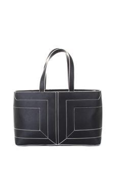 Tote bag in ecopelle con maxi logo Elisabetta Franchi ELISABETTA FRANCHI | Borsa | BS72A06E2110