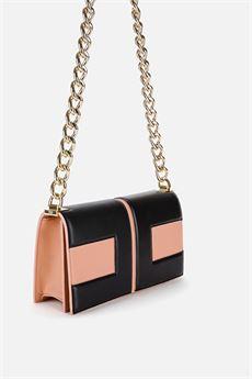 Clutch bag con catena dorata e logo bicolor Elisabetta Franchi ELISABETTA FRANCHI | Borsa | BS73A06E2K14