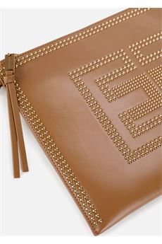 Borsa a busta in ecopelle con logo dorato Elisabetta Franchi ELISABETTA FRANCHI | Borsa | BS96A07E2368