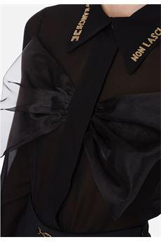 Camicia a maniche lunghe con fiocco e strass Elisabetta Franchi ELISABETTA FRANCHI | Camicia | CA27006E2110