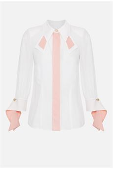 Camicia con colori a contrasto Elisabetta Franchi ELISABETTA FRANCHI | Camicia | CA27406E2N37