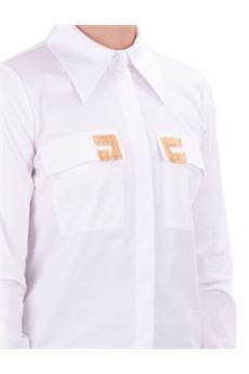 Camicia con ricamo logo Elisabetta Franchi ELISABETTA FRANCHI | Camicia | CA29906E2100