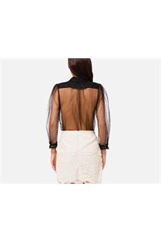 Camicia trasparente con rouches Elisabetta Franchi ELISABETTA FRANCHI | Camicia | CA30707E2110