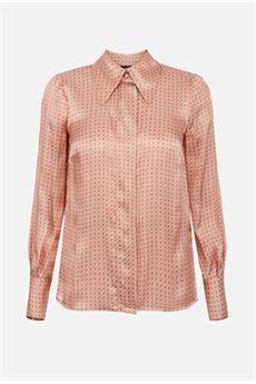 Camicia in twill di seta con stampa Elisabetta Franchi ELISABETTA FRANCHI | Camicia | CA31007E2W71