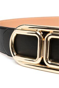 Cintura con fibbia logo in oro light Elisabetta Franchi ELISABETTA FRANCHI | Cintura | CT36S06E2110