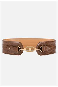 Cintura alta con morsetto logato Elisabetta Franchi ELISABETTA FRANCHI | Cintura | CT60S07E2038