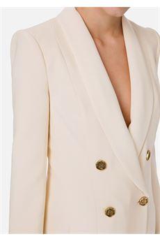 Giacca doppiopetto con bottoni oro invecchiato Elisabetta Franchi ELISABETTA FRANCHI | Giacca | GI94606E1193