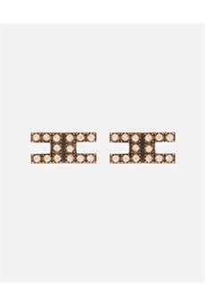 Orecchini logo con strass Elisabetta Franchi ELISABETTA FRANCHI | Orecchini | OR9MC07E2028