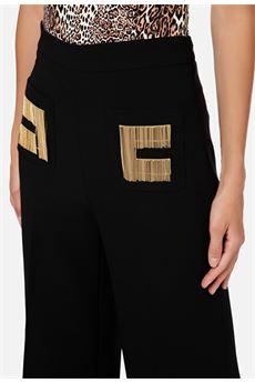 Pantalone a zampa con loog ricamato Elisabetta Franchi ELISABETTA FRANCHI | Pantalone | PA34706E2110
