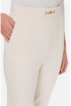 Pantalone skinny con accessorio Elisabetta Franchi ELISABETTA FRANCHI | Pantalone | PA36006E3193