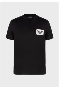 T-shirt in jersey mercerizzato con patch eagle Emporio Armani EMPORIO ARMANI | T-shirt | 6H1T961JTUZ999