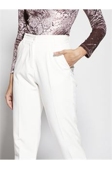 Pantaloni con pences Giulia N GIULIA N | Pantalone | GI2071PANNA