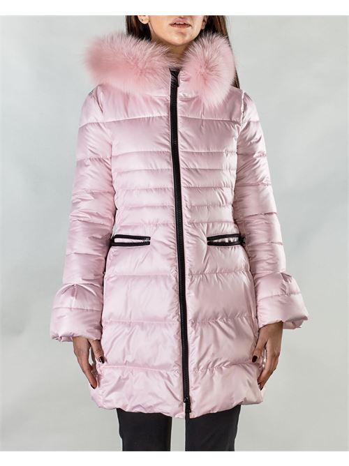 Piumino rosa con cappuccio Nora Barth NORA BARTH | Giubbotto | 17746LP11928