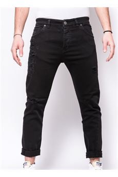 Jeans in denim Destroyed Patriòt PATRIOT | Jeans | PKAY880NERO