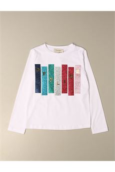 T-shirt con logo glitter multicolor Twin Set TWIN SET | T-shirt | GJ22815548