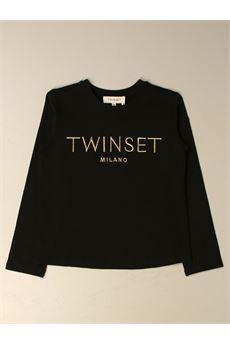T-shirt con logo oro Twin Set TWIN SET | T-shirt | GJ23165540