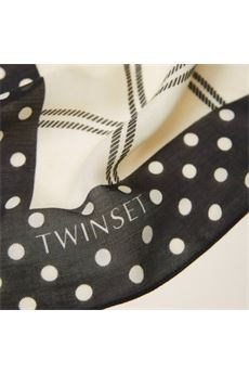Kefia con stampe e logo Twin Set TWIN SET | Kefia | TA441B5553