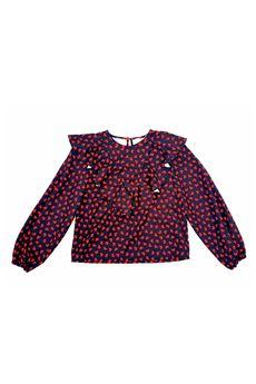 Camicia a fantasia Vicolo Girl VICOLO | Camicia | C0505NERO-ROSSO