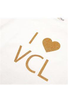 Felpa con logo Vicolo Girls VICOLO | Felpa | F0533BIANCO