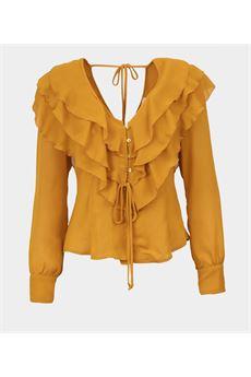 Camicia con rouches Vicolo VICOLO | Camicia | TW0118SENAPE