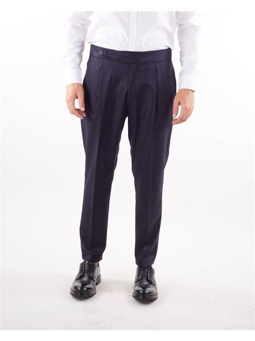 Pantalone con pences ed elastico in vita Alessandro Dell'Acqua ALESSANDRO DELL'ACQUA | Pantalone | AD7310T502150