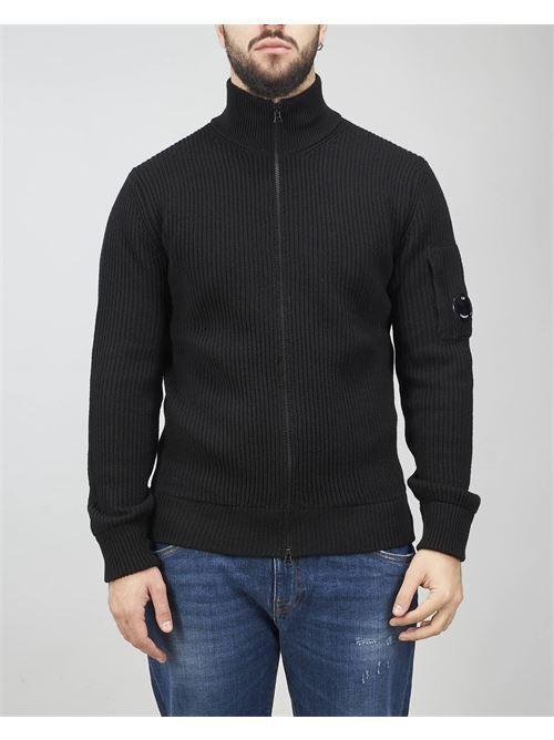 Merino Wool Stand Collar Knit C.P. Company C.P. COMPANY | Cardigan | 11CMKN180A005292A999