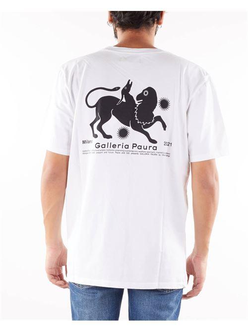 T-shirt con logo e stampa sul retro Danilo Paura DANILO PAURA | T-shirt | DP1001ST10100