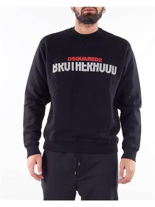 Felpa con stampa ''Brotherhood'' Dsquared DSQUARED | Felpa | S74GU0521900