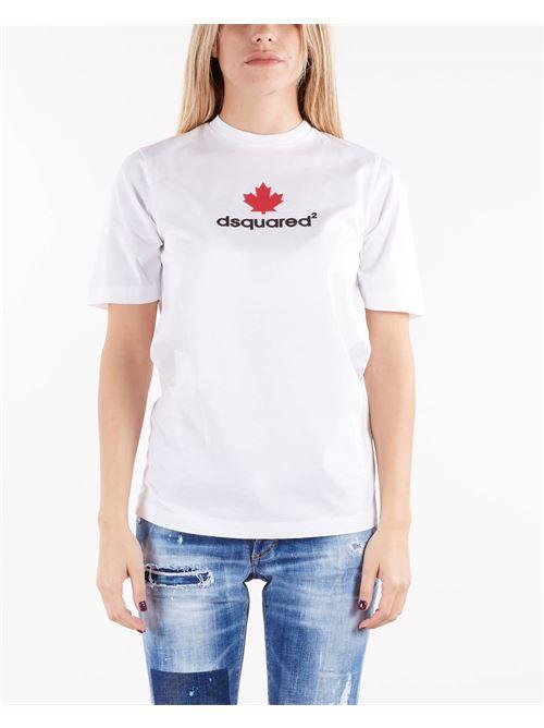 T-shirt con logo a rilievo Dsquared DSQUARED | T-shirt | S75GD0210100