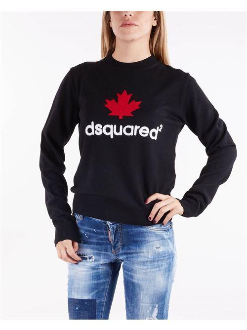 Maglia con ricamo logo Dsquared DSQUARED | Maglia | S75HA1076961