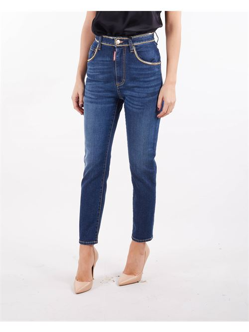 Jeans Twiggy Medium Wash High Waist Cropped Jeans DSQUARED | Jeans | S75LB0550470