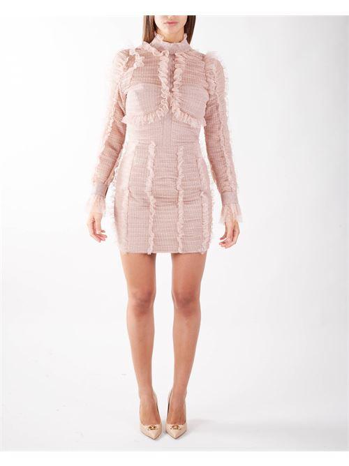 Mini abito full rouches in tulle Elisabetta Franchi ELISABETTA FRANCHI | Abito | AB06316E2Q83